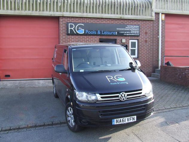 Russ' van at RG Pools & Leisure.