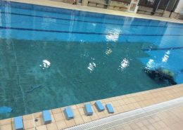 RG Pools | underwater tiling at Wadebridge Leisure Centre, Cornwall.